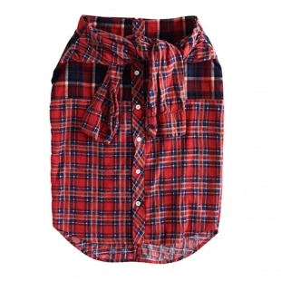 FLANNEL CHECK SHIRT SKIRT