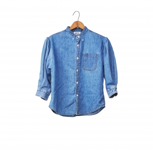 PUFF SLEEVE DENIM SHIRTS